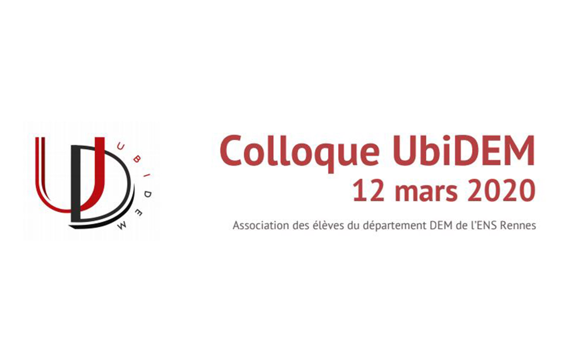 Colloque UbiDEM – 12 mars 2020